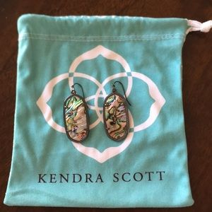 Kendra Scott Elle Drop Earrings in Abalone Shell